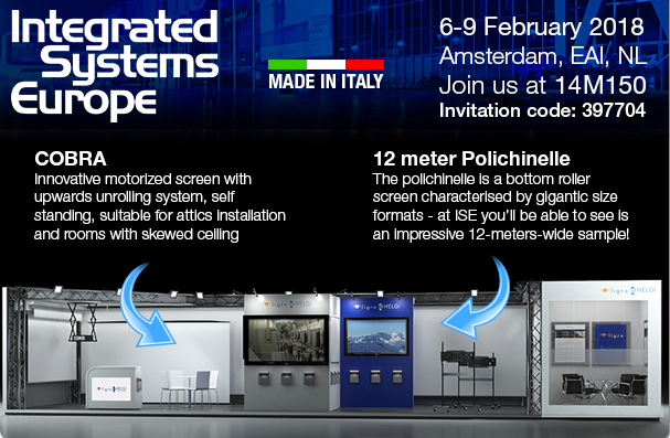 New Projection Screens Cobra And Polichinelle At Ise 2018 Helgi